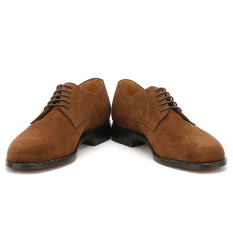 loake mens brown 205 derby shoes suede goodyear
