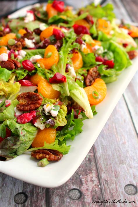 australian dinner recipes cranberry citrus salad with goat cheese pecans