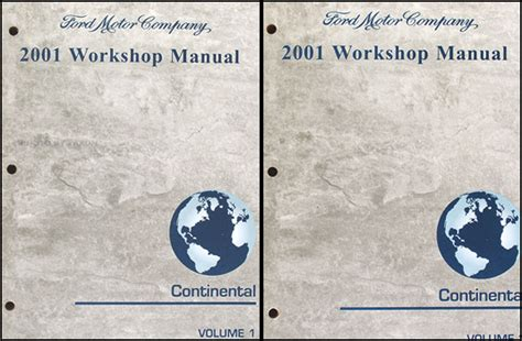 free online auto service manuals 1990 lincoln continental parking system 2001 lincoln continental repair shop manual original 2 volume set