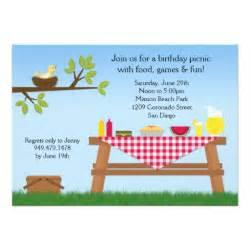 picnic birthday invitation 5 quot x 7 quot invitation card zazzle