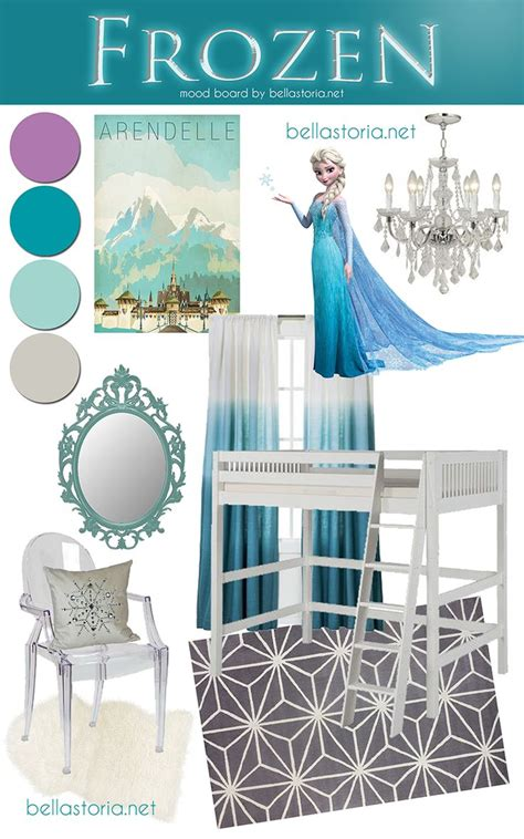frozen inspired bedroom disney s frozen inspired girl s room mood board frozen