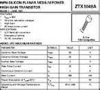 ztx320 transistor datasheet ztx1049a datasheet npn low sat transistor