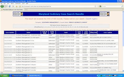 Maryland Judiciay Search Maryland Judiciary Search