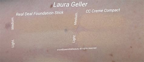 laura geller cover foundation swatches laura geller cc creme compact review swatches of shades
