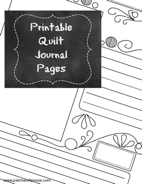 free quilting tool printable quilt journal page