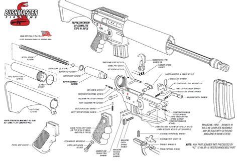 ar 15 breakdown diagram bushmaster ar 15 schematics diagram ar rifle parts