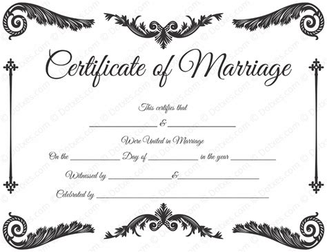 Free Marriage Certificate Template by Royal Corner Marriage Certificate Template Dotxes