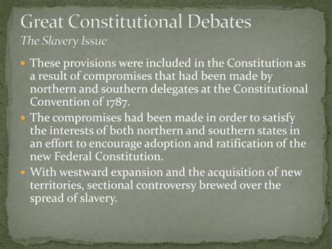 sectional compromise 1787 ppt the constitution in jeopardy powerpoint presentation