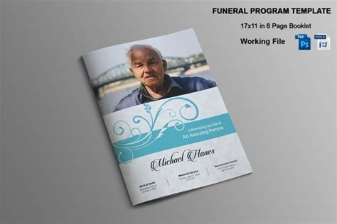 funeral booklet templates 20 funeral brochure template word indesign and psd