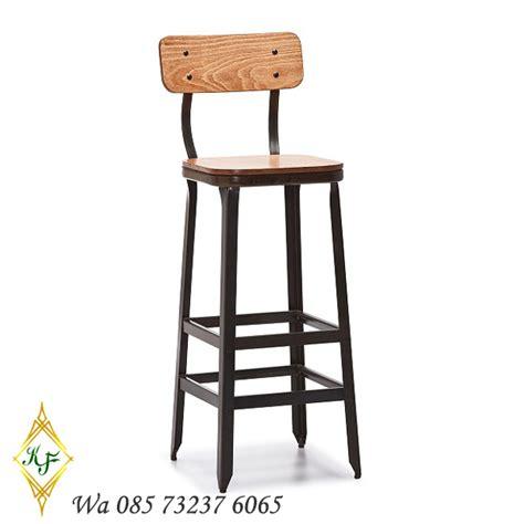 Kursi Bar Stool Kayu kursi bar modern stools kayu jati khamila mebel