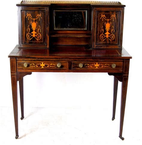 rosewood desk inlaid rosewood desk c 1890 loveantiques