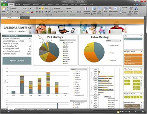 Microsoft Office Dashboard Templates by Free Excel 2010 Dashboard Templates Calendar Dashboard