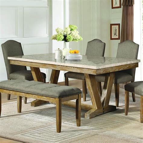faux marble dining table homelegance jemez rectangular faux marble top dining table