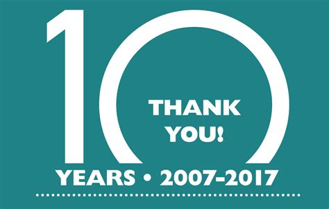how is 10 in years celebrating 10 years 2007 2017 freelance