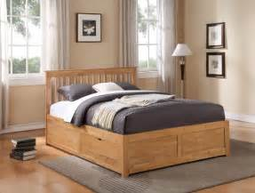 King Size Wooden Bed Frames With Drawers Storage Beds Flintshire Furniture Pentre Wooden Bed With