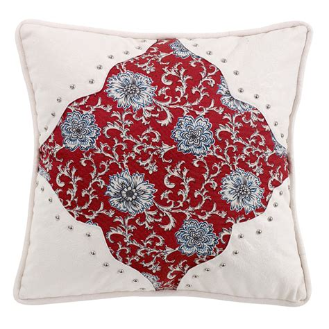bandana print comforter bandana floral pillow with scalloped corners