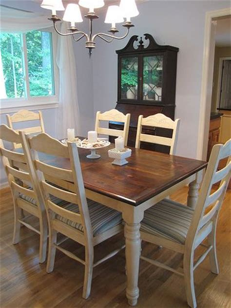 how to refinish dining room table and chairs pine table white cottage and cottage dining rooms on
