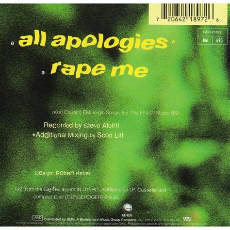 all apologies all apologies me by nirvana cds with didierf ref