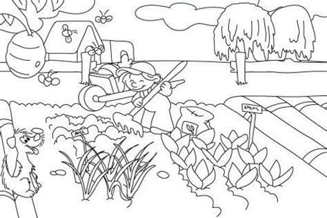 coloring pages of garden scene 15 best images about 4 h garden coloring pages on