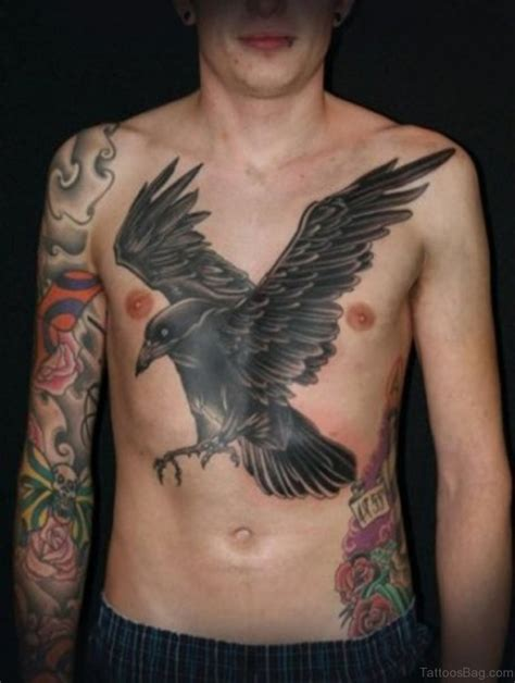 tattoos of crows 55 favorite birds tattoos on chest