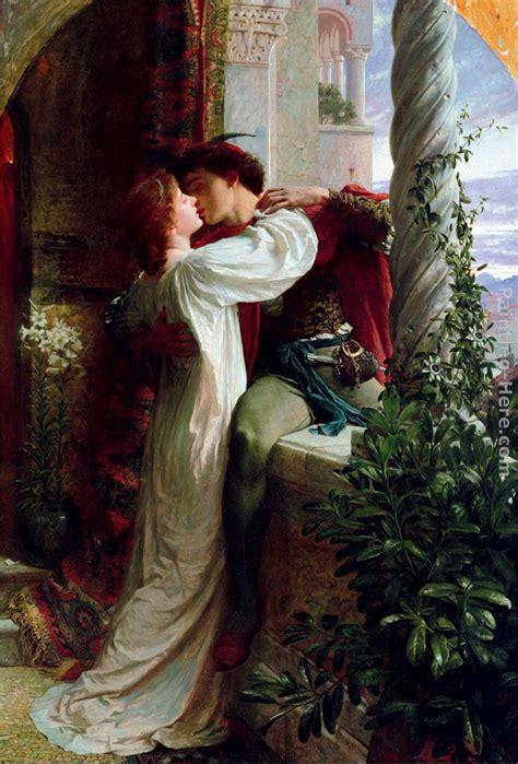 Romeo And Juliet Balcony Scene Parody frank dicksee romeo and juliet cropped painting anysize 50