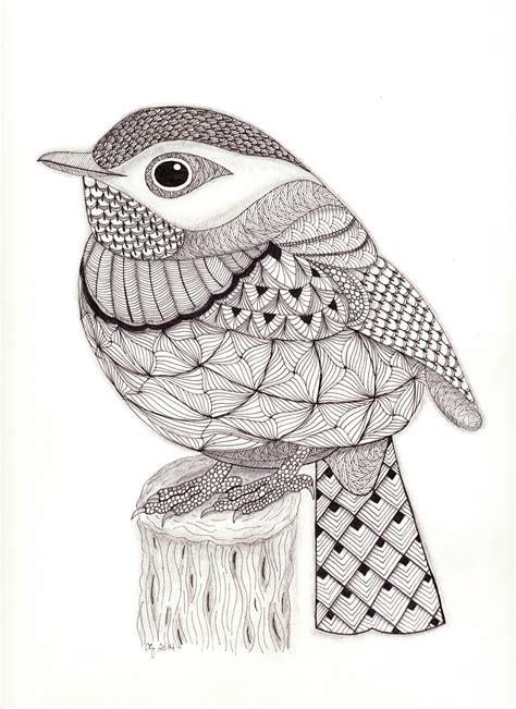pattern drawing bird zentangle bird art pinterest bird zentangles and