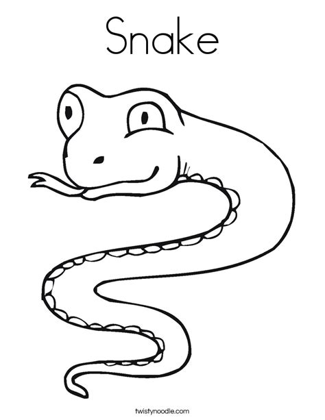 S Snake Coloring Page by Snake Coloring Page Twisty Noodle