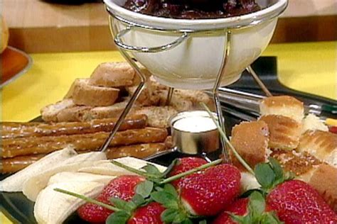 ina garten chocolate fondue chocolate fondue recipe rachael ray food network