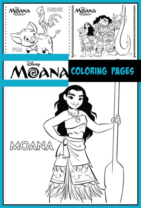 Moana Coloring Pages Desert Chica Three Kittens Coloring Page