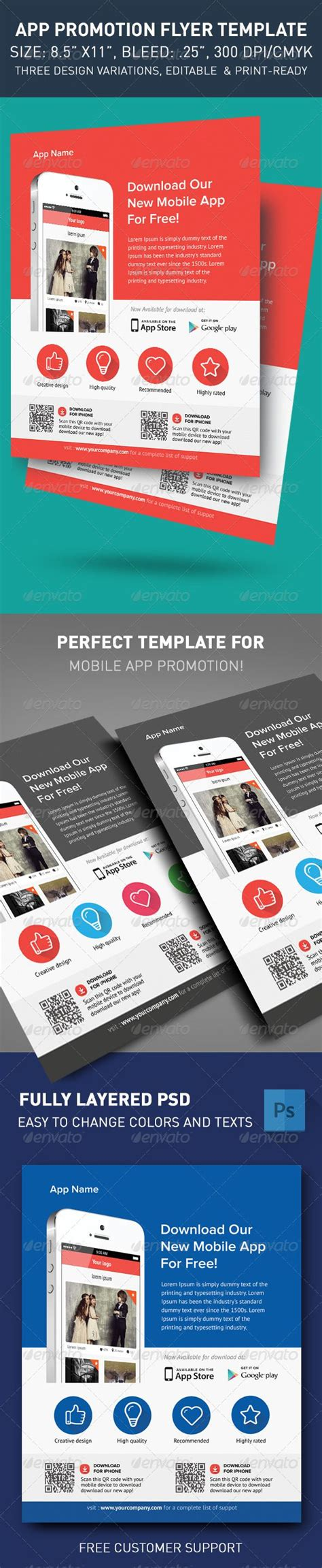 design leaflet app modern app flyers flats texts and promotion