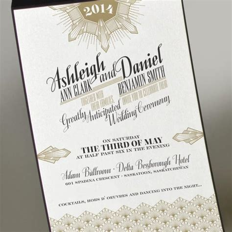 deco wedding invitations templates deco gold wedding invitation great gatsby wedding