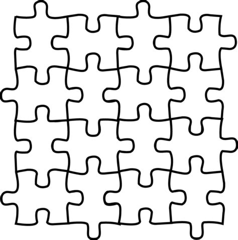 pattern of black and white squares crossword puzzle puzzle pieces coloring page free clip art