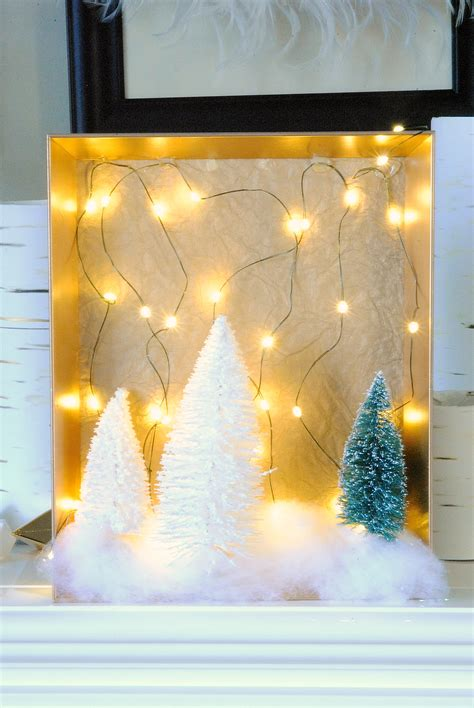 diy decorations and crafts diy woodland light shadow boxes