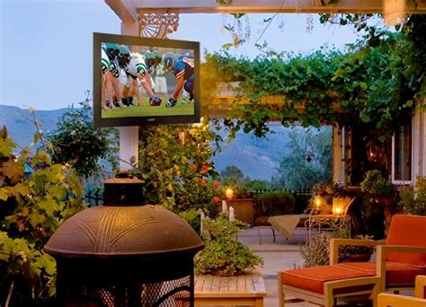 backyard tv for almost all weather fun get an outdoor tv eh network