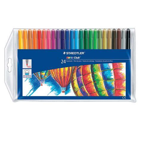 Fina Set canetinha staedtler hidrocor 325wp24 ponta fina 24 cores