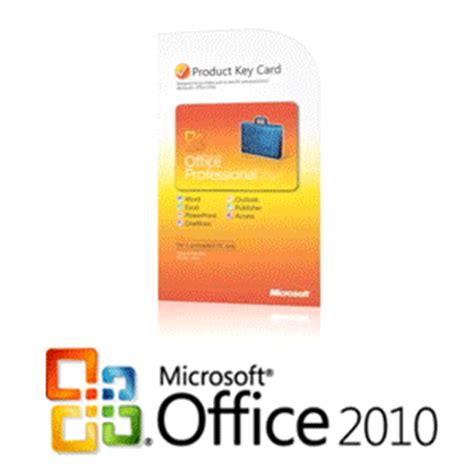 buy the microsoft office professional 2010 product card at