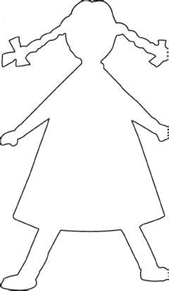 paper doll chain template paper doll chain template crafts with the