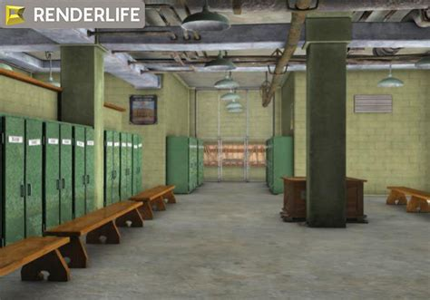 Locker Room Ma by Vintage Locker Room Interior 3d Model Max Obj Fbx C4d Ma