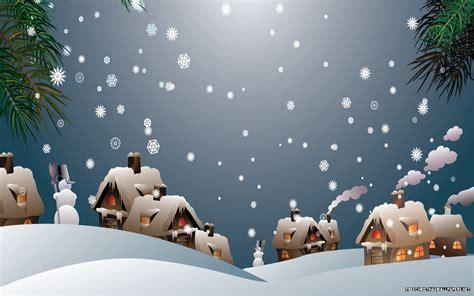snowy christmas village wallpaper freechristmaswallpapersnet