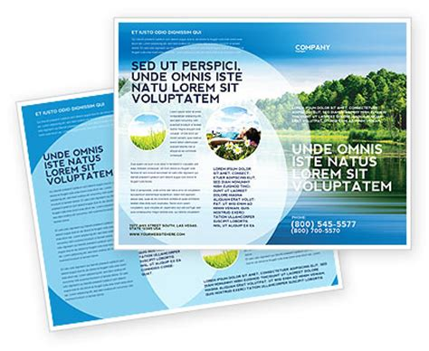 brochure layout landscape landscape brochure template design and layout download