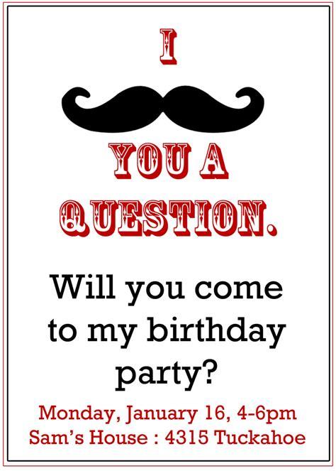 mustache invitation boy s birthday invitation by peachymommy