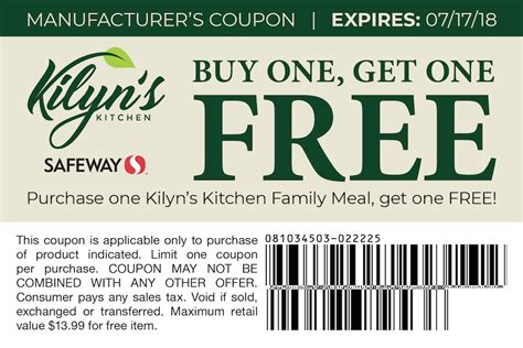 save 50 with new kilyn s kitchen coupon bogo free