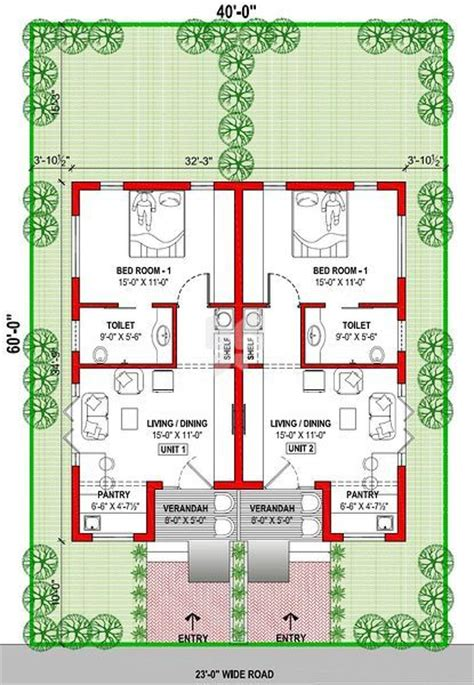 twin home plans twin house floor plans in india house design plans