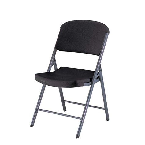 lifetime black folding chair set     home depot