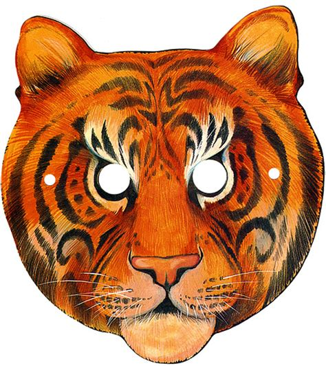 How To Make A Tiger Mask Out Of Paper - tiger mask template