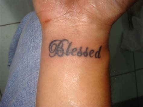 blessed tattoo blessed tattoos
