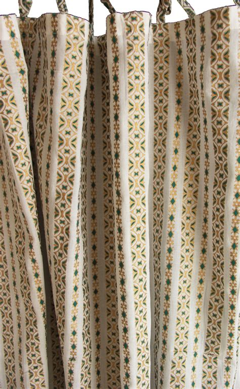 curtains print hand block printed curtain white emerald and gold print