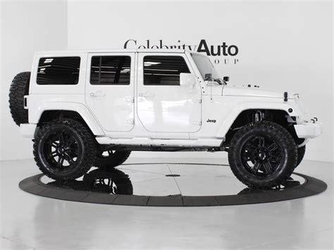 jeep wrangler white 4 door lifted celebrity auto group 2013 jeep wrangler unlimited sahara