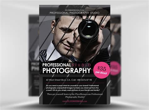 templates for photography flyers free photography flyer template flyerheroes