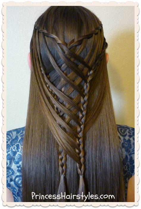 Criss Cross Hairstyles by Criss Cross Waterfall Mermaid Braid Hairstyle Hairstyles